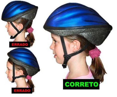 Posicionar corretamente o capacete