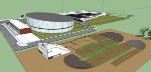Projeto da futura pista Olímpica de BMX, junto ao Velodromo Nacional na Anadia.
