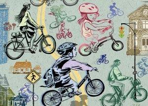 pedalar para a escola