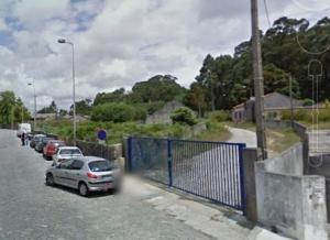 Portão de acesso ao terreno que tenho mencionado, fica no inicio da Rua de São Gens em Matosinhos