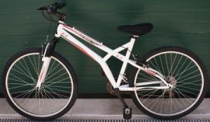 Exemplo de bicicleta distribuída pela World Bike Tour