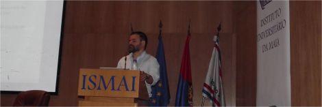 Nuno Machado durante a sua intervenção, com o tema: Suporte Básico de Vida