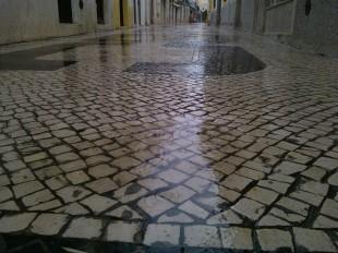 A chuva foi uma constante.