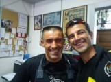 2 Pedros. À esquero o Pedro Faísco e à direita o Pedro Silva
