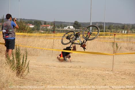 Apesar das poucas dificuldades técnicas, há sempre acidentes.