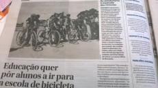Nuno Crato pedalar para a escola 2