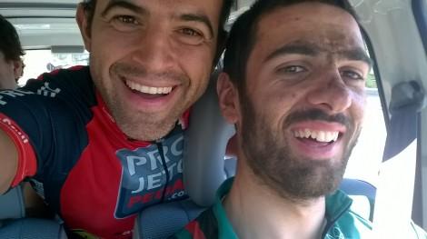 A terminar a minha participação literalmente atrás do Mário Costa, Campeão Nacional XCO 2013