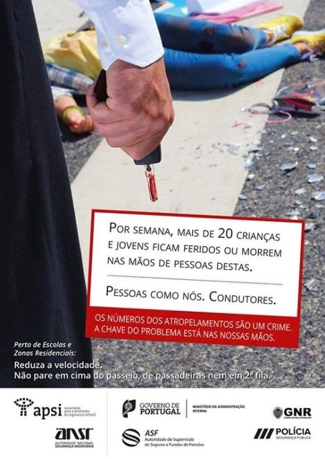 cartaz prevenção rodoviária
