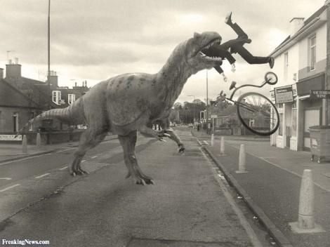 dinossauro come ciclista