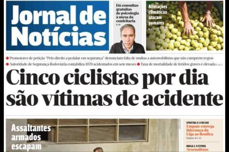 jornal de noticias acidentes ciclistas automobilistas