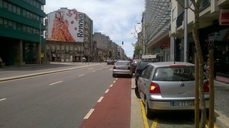 ciclovia avenida da boavista porto invicta mobilidade urbana automobilistas