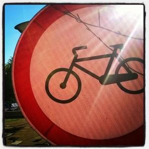 mobilidade proibido bicicletas